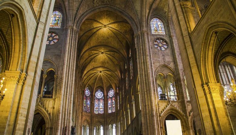 巴黎圣母大教堂的内部