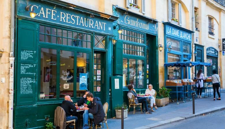 咖啡厅在Saint Germain desPrés附近