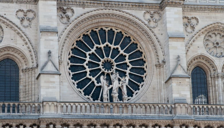 Rose of the Façade of the Notre Dame Cathedral