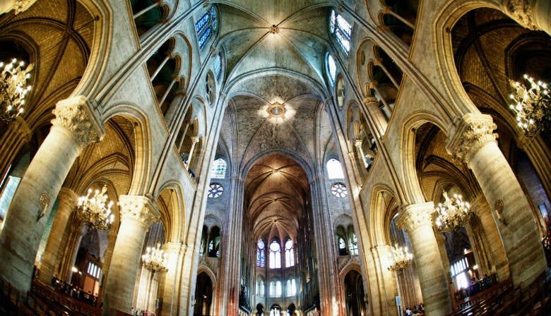 Interior of the Notre Dame Cathedral