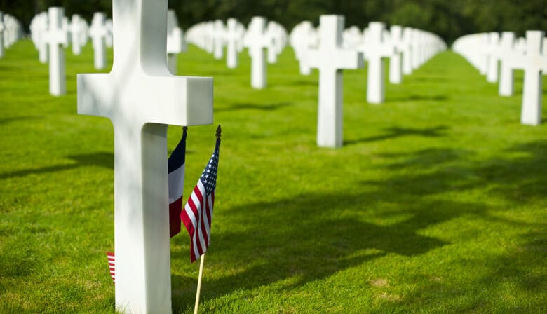 American Cermetery on the Normandy Landing Beaches