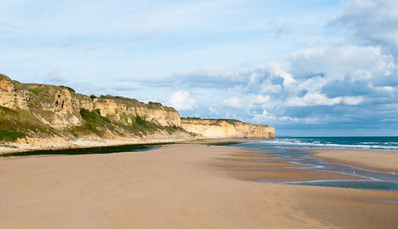 Superbe plage d'Omaha en Normandie