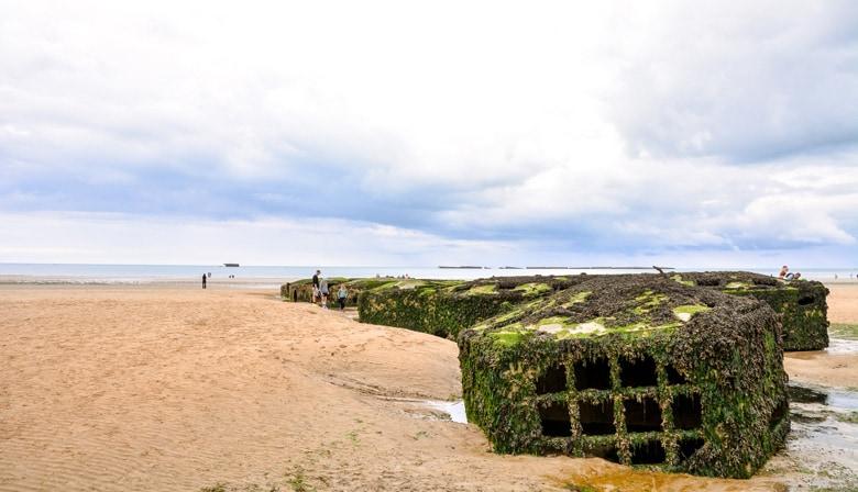 Plage du Débarquement d'Arromanches en Normandie