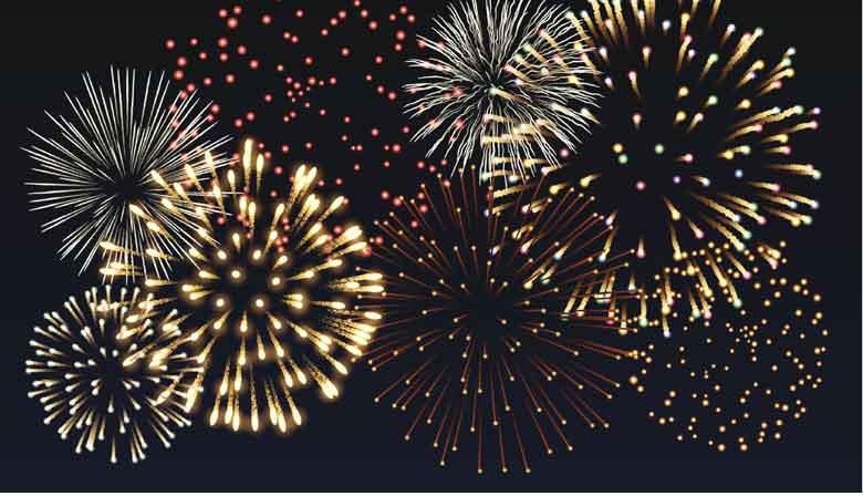 Fogos de artificios em Paris