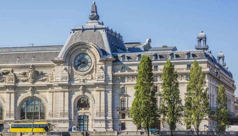 Vista do Museu d'Orsay em Paris