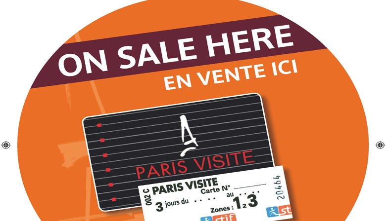 """2 Tage Metro-Pass """"Paris Visite"""""""