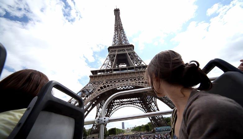 Vista da Torre Eiffel do Opentour