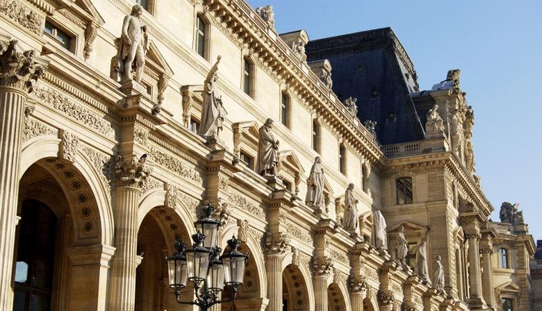 Louvre museum entrance