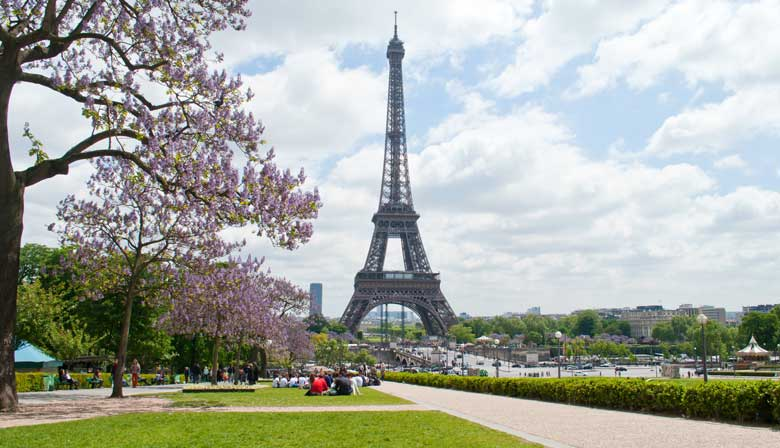 Emblematic Eiffel Tower of Paris