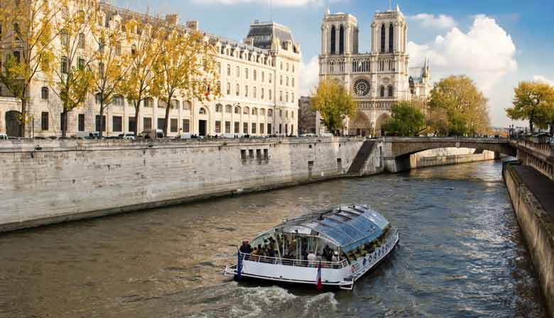 Seine Cruise along the Notre Dame