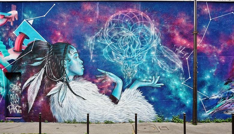 Street art en el barrio de Belleville