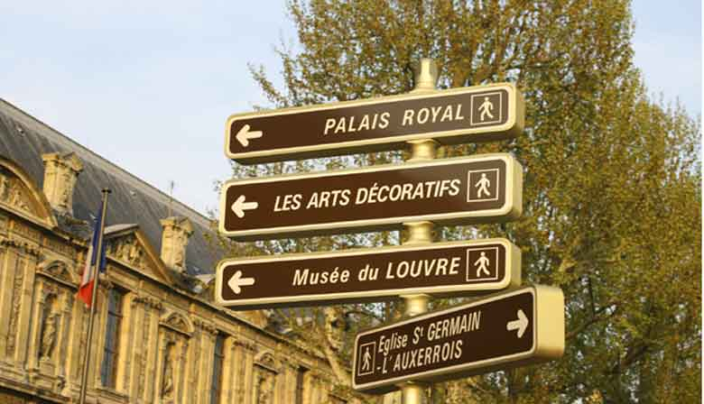 Street signs in Paris