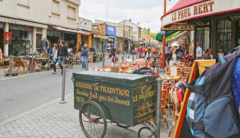 Visit the famous Paris Flea Market