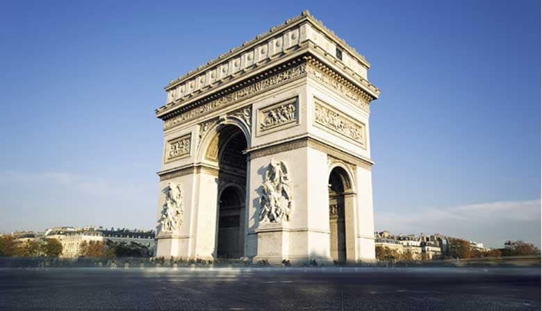 City Tour and vista do Arc de Triomphe