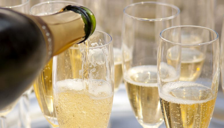 Tasting of champagne