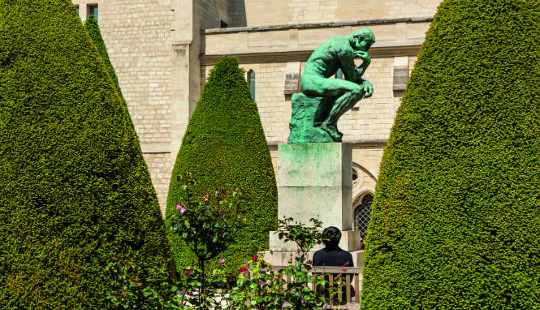 The Thinker sculpture of Rodin