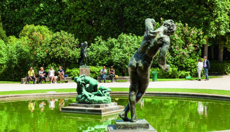Foutain in the garden of the Musée Rodin