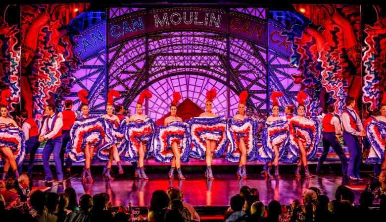 Beautiful girls of the Moulin Rouge second show