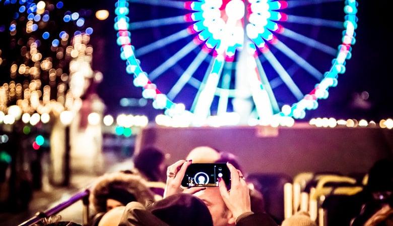 Luzes natal em paris