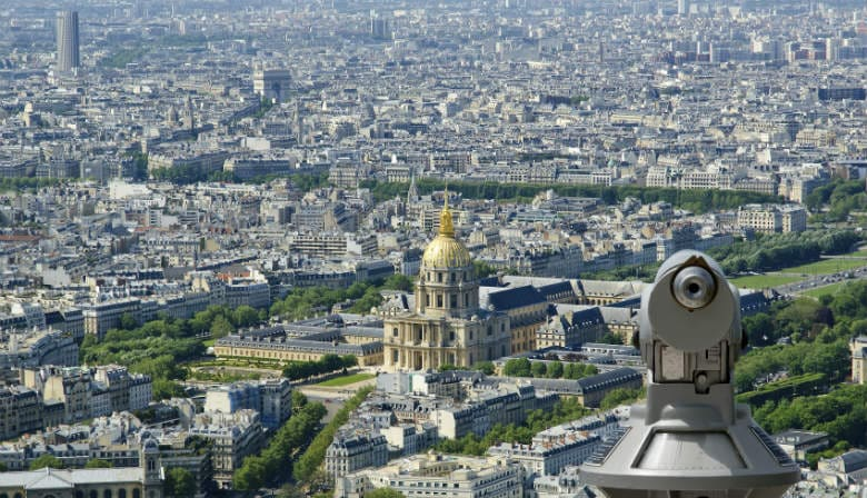 View over the Invalides from the Montparnasse Tower