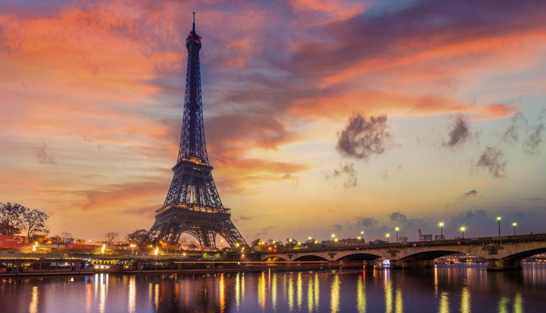 Visit the Eiffel Tower on the evening