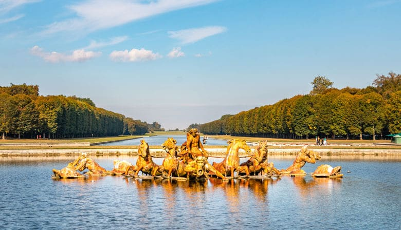 Fountains in gardens of Versailles