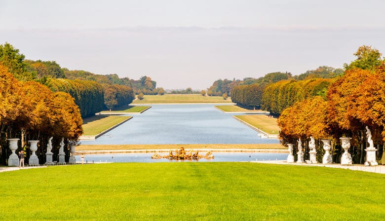 Beautiful gardens of Versailles Palace