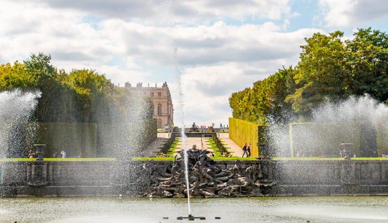 Fountains in Versailles gardens