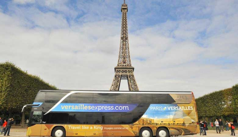 Versailles Express in front of the Eiffel Tower