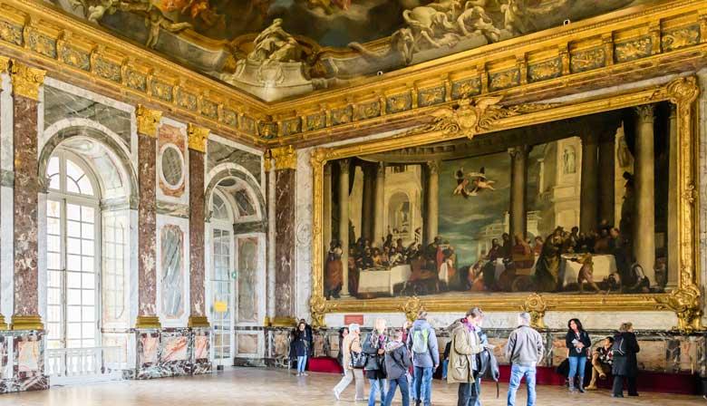 Decoração real no Palácio de Versalhes