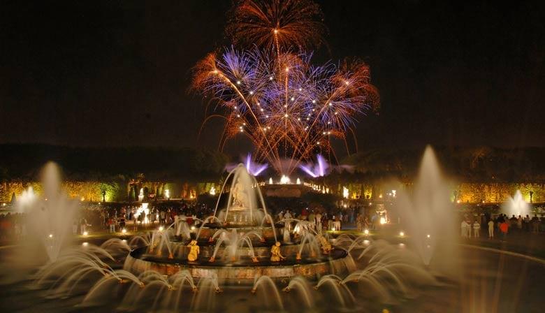 Fuegos artificiales en el Chateau de Versailles