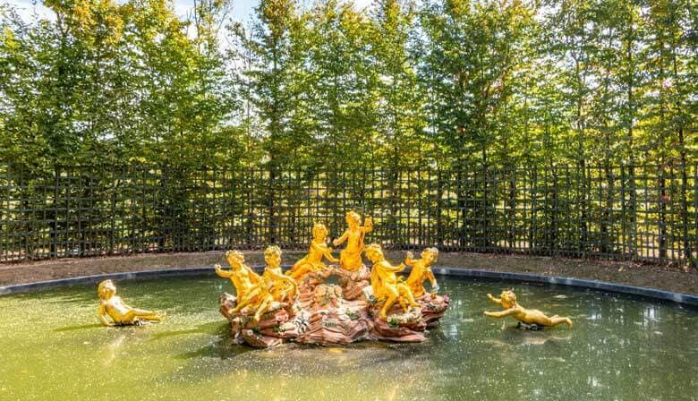 Brunnen in den Gärten