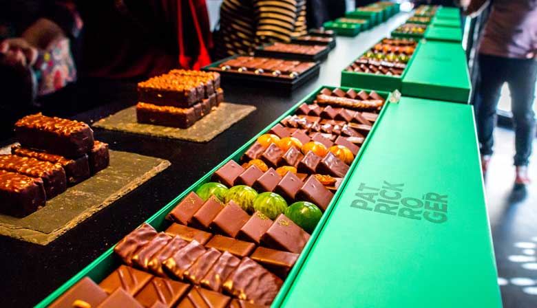 Chocolate tasting in a renowed chocolatier
