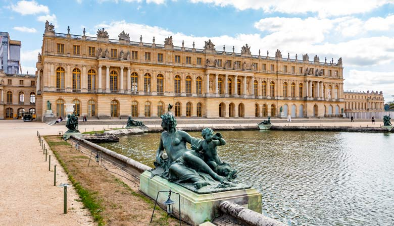 View of the Versailles palace