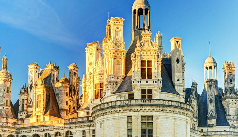 The roof of the Château de Chambord