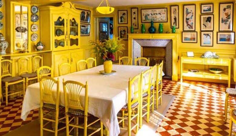 El interior de la casa de Monet de Giverny