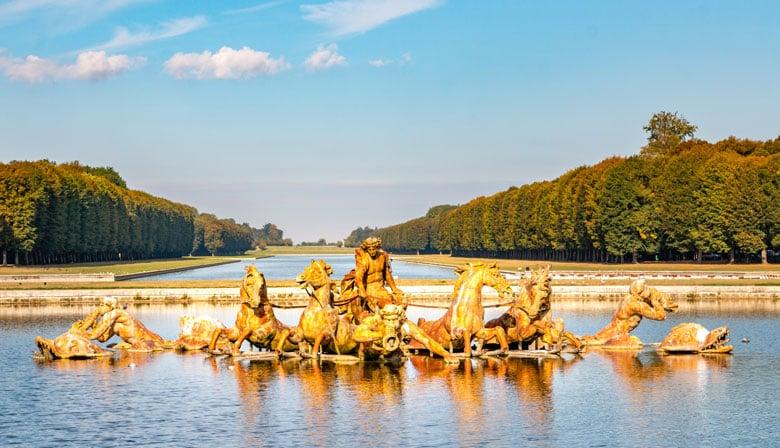 Le Bassin d'Apollon des jardins de Versailles