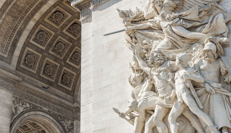 Wall of the Arc de Triomphe
