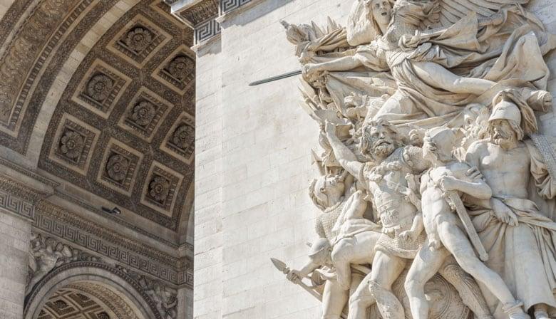 Fachada del Arco del Triunfo