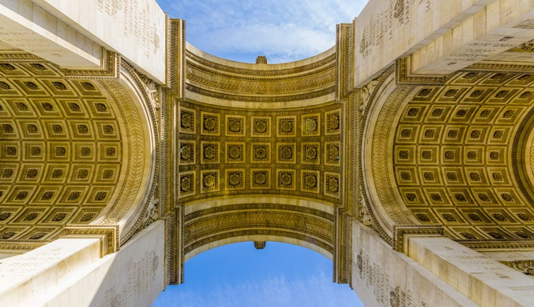 Arc de Triomphe from the bottom