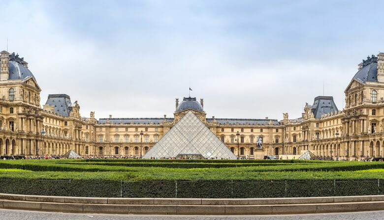 The Louvre Museum and its pyramid