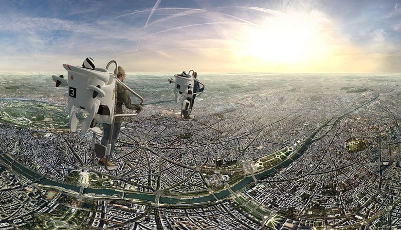 Exprience Flyview and fly over Paris in virtual reality