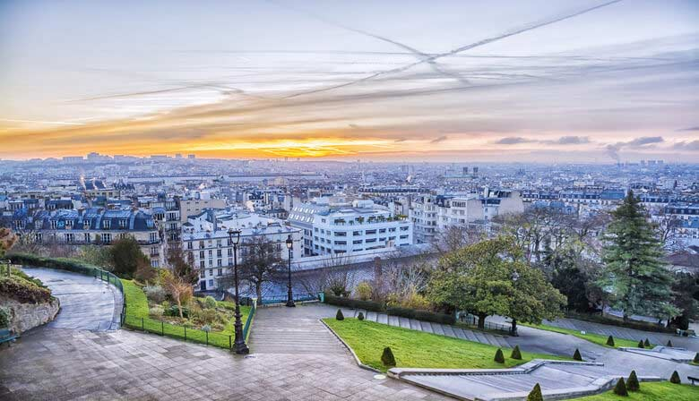 Enjoy a breathtaking view from Montmartre hill
