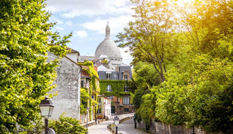 Walk through the charming streets of Montmartre