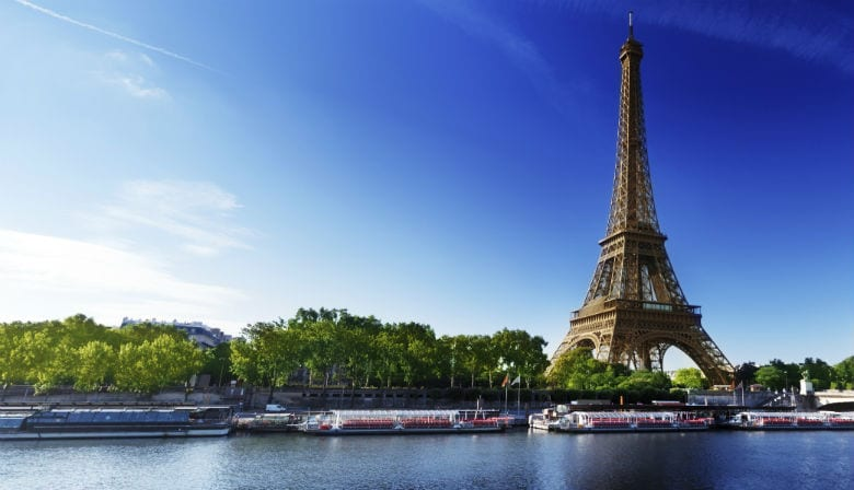 Beautiful view of the Eiffel Tower