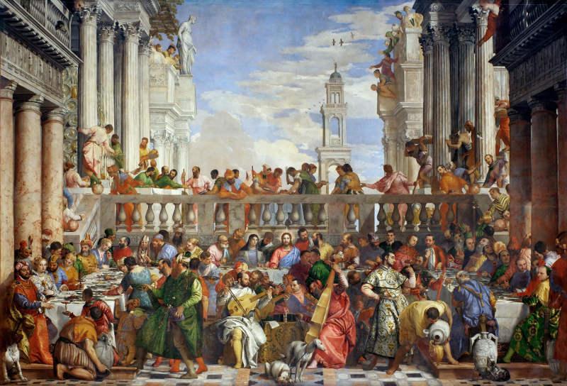 Les Noces De Cana Tableau De Veronese Au Musee Louvre Pariscityvision
