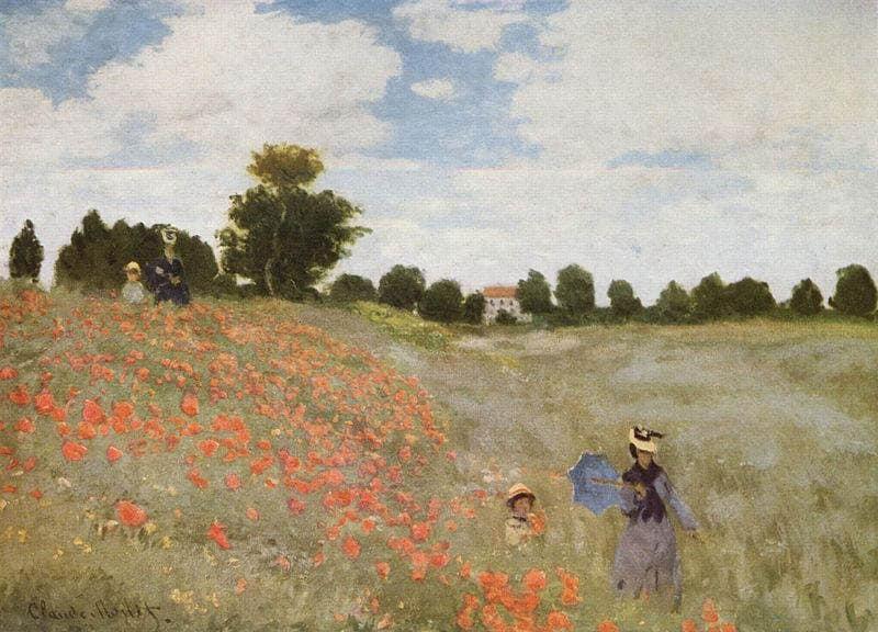Les Coquelicots Un Tableau De Claude Monet Pariscityvision