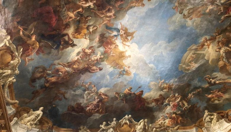 Discover the splendid ceiling paintings