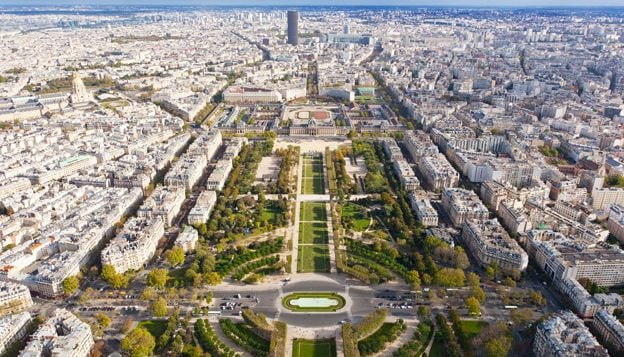 View of the Champ de Mars
