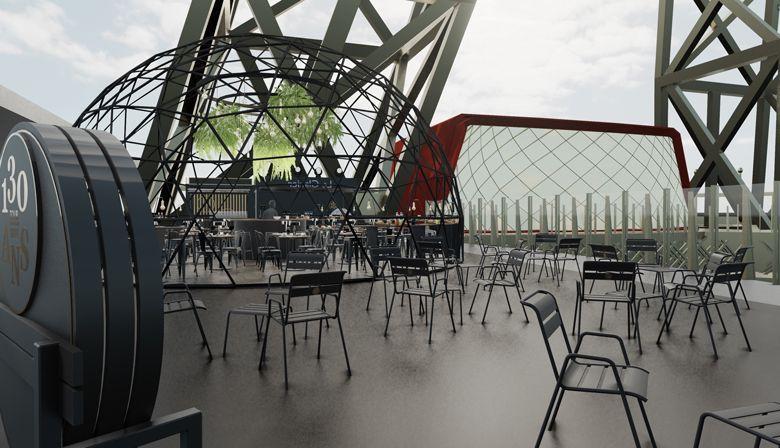 Ephemeral Igloo-like glass dome on the Eiffel Tower first floor